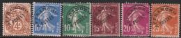 FRANCE 1922 PRECANCELLED YT 40...57 (6 STAMPS) USED VAL 2.90 EUR - Préoblitérés