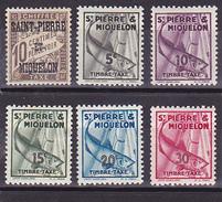 """St-Pierre Et Miquelon """"Taxes"""" N° 11-32-33-34-35-36 Neuf * - Voir Recto Et Descriptif - - Postage Due"""