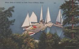Idaho White Sails At Anchor On Lake Coeur D'Alene - Coeur D'Alene
