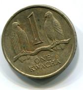 1989 Zambia One Kwacha Coin - Sambia