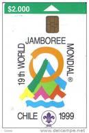 Chile-mondial Chile (1999)-tirage-40.000-12/1998-used Card+1 Card Prepiad Free - Cile