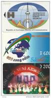Azerbaijan-(3 Chip Cards)-used+2 Card Prepiad Free - Azerbaïjan