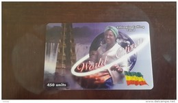 Ethiopia-world Citizen-ethiopis Calling Card 450units-mint Card+1card Prepiad Free - Ethiopia