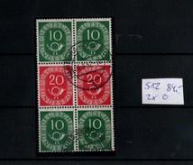 ! Bund Posthorn Zusammendruck Mi.Nr. S12 (2x) Gestempelt, Wert 84,- Mi. Euro - Se-Tenant