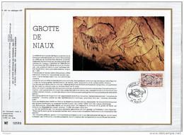 """FRANCE 1979: Feuillet CEF 1er Jour N°té N° 491 """" GROTTE DE NIAUX """". N° YT 2043. - Préhistoire"""