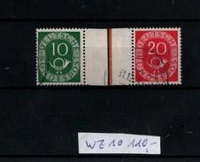 ! Bund Posthorn Zusammendruck Mi.Nr. WZ1 Gestempelt, Wert 110,- Mi. Euro - Se-Tenant