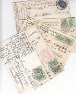 5 Karten Aus Turku Und Hangö Nach Tyskland / Deutschland - 1856-1917 Administración Rusa