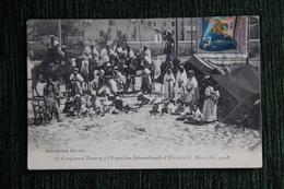MARSEILLE - Le Campement Touareg à L'Exposition Internationale D'Electricité En 1908 , Affranchi Par Le Timbre De L'Expo - Mostra Elettricità E Altre