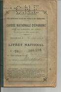 LIVRET NATIONAL D EPARGNE    Succursale De VERSAILLES  1921 - Collezioni