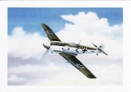 Aviation Art Postcard WW2 German Messerschmitt Me109 III Aircraft John Batchelor - 1939-1945: 2ème Guerre
