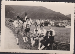 Grote Kaart Oostenrijk Muziek Musicians Harmonica Accordion Accordéon Akkordeon Tirol Österreich Autriche Austria - Oetz