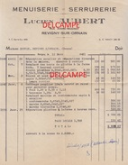 Facture - REVIGNY ( Meuse )  Rue André Maginot  - LUCIEN AUBERT - MENUISERIE - SERRURERIE - Old Professions