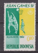 Indonesie Indonesia Nr 349 MNH ; Basketbal, Baseball, Basket, Asian Games 1962 NOW MANY STAMPS INDONESIA VERY CHEAP - Baloncesto