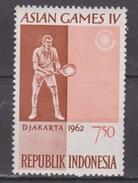 Indonesia Indonesie Nr 352 MNH; Tennis, Jouer Au Tennis, Jugar Al Tennis 1962 NOW MANY STAMPS INDONESIA VERY CHEAP - Tennis