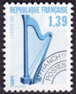 FRANCE  1989  -  Preo  202   - Harpe  - Sans Gomme - Préoblitérés