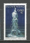 Slovakia 2016. Geyser Of Herlany UNESCO MNH - Slovakia