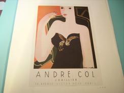 ANCIENNE PUBLICITE JOAILLIER ANDRE COL 1946 - Bijoux & Horlogerie