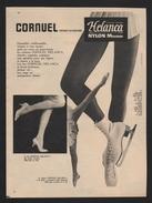 Publicite 1958 Sous Vetement CORNUEL Lingerie Bas Collant Patins A Glace Danse - Advertising