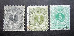 B1373 - Belgium - 1884-85 - Sc. 49-50-51 - 1884-1891 Leopold II.