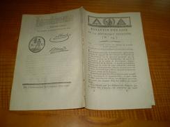 Lois An 2 : Notaires Vallée De Barcelonnette.Récompense Pour Dénonciation Faux Assignats.Avancement Grades Militaires - Décrets & Lois