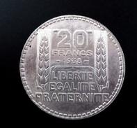 1 Pièce De 20 Francs TURIN -  1938 - Argent - France