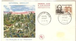 France 1961 - FDC - Général Drouot - 20/05/1961 - YT1298 - Bataille De La Moscowa - Nancy - FDC