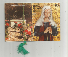 Calendrier , Petit Format ,1981 , 10 Pages , Sainte RITA , 2 Scans - Calendriers