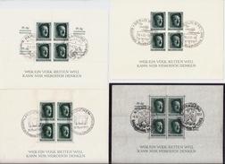 DR, 1937, Alle 4 Hitler-Blocks, Mi. 196.-, Nur 17% !! , #6898 - Blocks & Kleinbögen