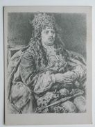 Polish King M Korybut Wisniowiecki 17 Century  / Matejko Painted  / Pencil Drawing   / 2 Scan - Geschiedenis