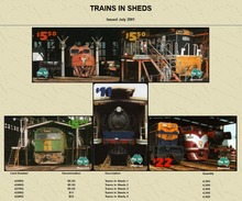 """Australian PAYTEL Phone Cards """"TRAINS IN SHEDS"""" Set No 53 Of 5 In Unused Mint Condition Scarce 07/2001 - Trains"""