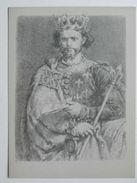 Polish And Hungary  King / Ludwik Wegierski  14 Century  / Matejko Painted  / Pencil Drawing   / 2 Scan - Geschiedenis