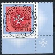 GERMANY Mi. Nr. 2047 900 Jahre Johanniter- Und Malteserorde -ESST Berlin - Eckrand Rechts  Unten - Used - Gebraucht