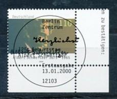 GERMANY Mi. Nr. 2090 125. Geburtstag Von Dr. Albert Schweitzer - ESST Berlin - Eckrand Rechts Unten - Used - BRD