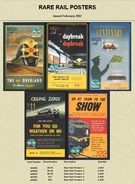 """Australian PAYTEL Phone Cards """"RARE RAIL POSTERS"""" Set No 58 Of 5 In Unused Mint Condition Scarce 02/2002 - Trains"""