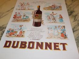 ANCIENNE PUBLICITE DUBONNET (les Cantinieres ) 1939 - Alcools
