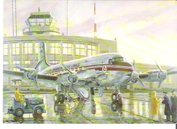 """Painting By Don Connolly 1985 TCA """"Northstar"""" (Canadair DC4M2) Gift From TCA Alumni To Air Canada - 1946-....: Modern Era"""