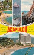 Mexico Mexique - Acapulco - Playa Condensa Beach - Stamp & Postmark 1973 - Written To Granby Québec - 2 Scans - Mexico