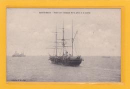 SAINT-MALO (35) - METIERS - BATEAUX - PECHE - TERRENEUVIER - Trois-mâts Revenant De La Pêche à La Morue - Saint Malo