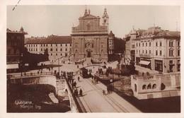 "05186 ""LJUBLJANA - MARIJIN TRG"" ANIMATA, TRANWAY. CART  SPED 1932 - Slovenia"