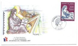ENVELOPPE JOURNEE DU TIMBRE 1997 / LE TYPE MOUCHON / PESSAC - Marcophilie (Lettres)