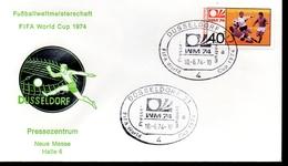 ALLEMAGNE  FDC Cm 1974 Dusseldorf   Football  Soccer Fussball - Coppa Del Mondo