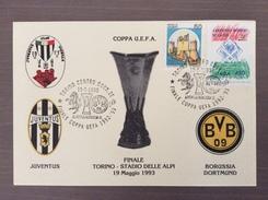 Cartolina Ufficiale, Carta Color Avorio In Soli 100 Esemplari, Juventus - Borussia Dortmund Finale Coppa UEFA 1992-93 - Soccer
