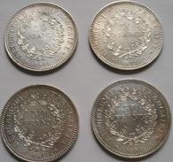 4 Pièces De 50 Francs Hercule 1974 Superbe état - France