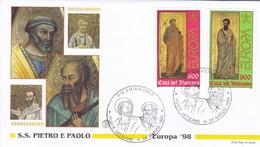 Vatikan, 1998.  Mi: 1242 + 1243. FDC. Europa, Petrus U. Paulus - Covers & Documents