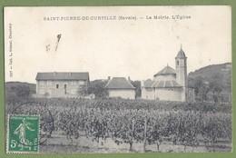 CPA - SAVOIE - SAINT PIERRE DE CURTILLE - LA MAIRIE, L'EGLISE ET LE VIGNOBLE - Collection L. Grimal  / 2317 - Frankreich