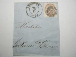 1864 , LÜBECK , 1 1/4 Shilling Auf Grossem Briefstück , Ideal Mit Luxustempel