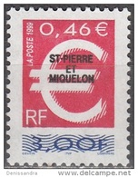 Saint-Pierre & Miquelon 1999 Yvert 691 Neuf ** Cote (2015) 1.50 Euro Le Timbre Euro - Neufs
