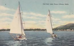 Idaho Lake Coeur D'Alene Sailboats At Full Sail 1953 - Coeur D'Alene
