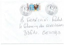 ENVELOPPE FETE DU TIMBRE 2008 / BANDE DESSINEE / PESSAC - Marcophilie (Lettres)