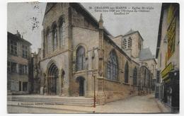 (RECTO / VERSO) CHALONS SUR MARNE EN 1916 - N° 29 - EGLISE ST ALPIN - BEAU CACHET - CPA - Châlons-sur-Marne